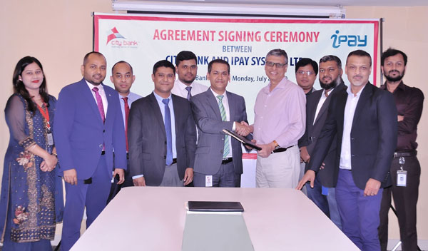 City Bank signs agreement with iPAY
