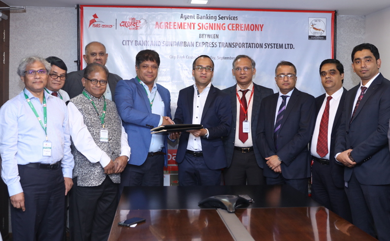 City Bank and Sundarban Express Transportation  Systems Ink Agreement